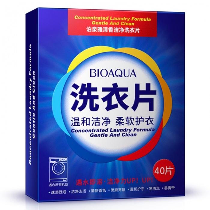Пластины для стирки 40 шт Bioaqua