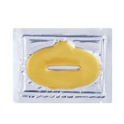 Маска для губ золотая