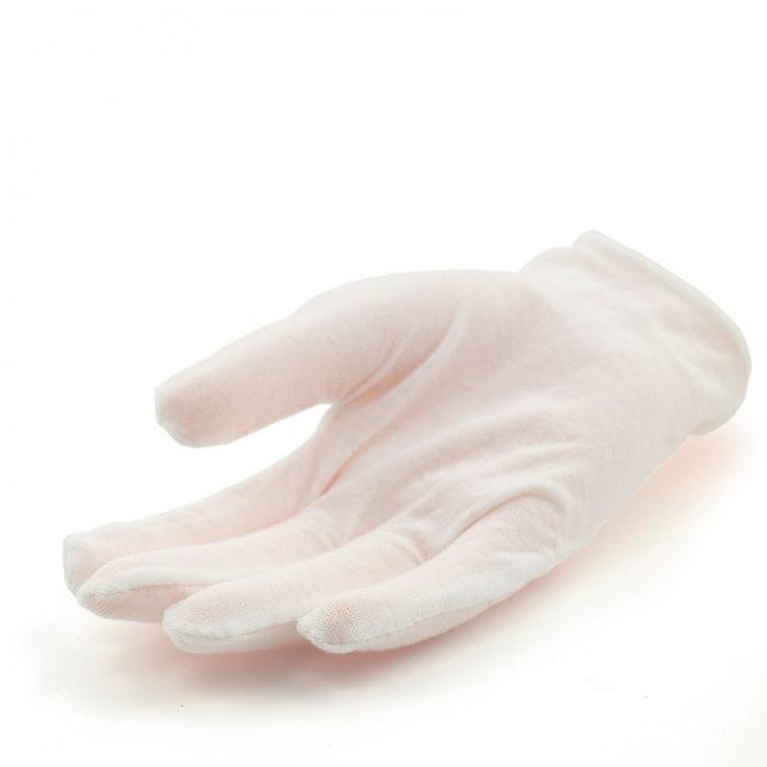 Перчатки косметические белые 12 пар