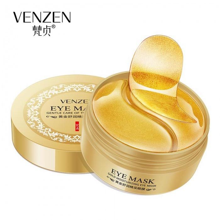 Маска под глаза золотая 60 шт Venzen