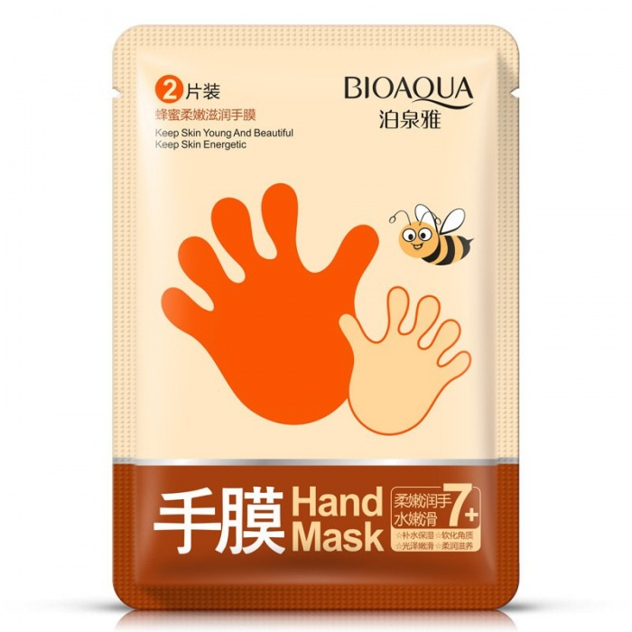 Перчатки увлажняющие с медом Bioaqua