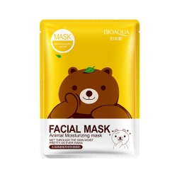 Маска для лица зеленый чай Bioaqua (медведь)