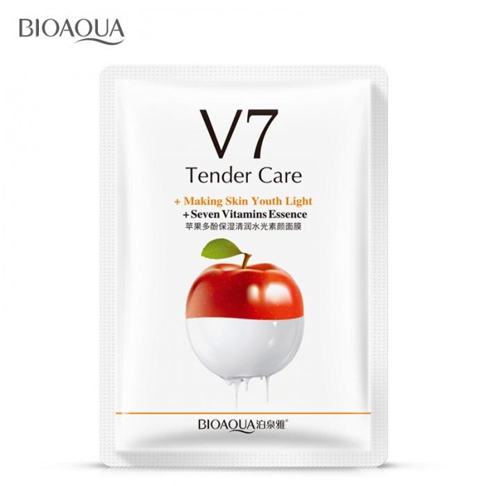 Маска для лица яблоко с витаминами V7 Bioaqua