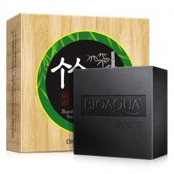 Мыло с бамбуковым углем Bioaqua