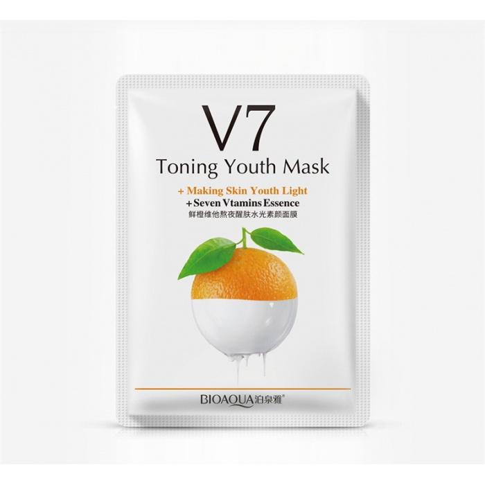 Маска для лица апельсин с витаминами V7 Bioaqua