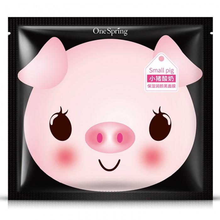 Маска для лица с йогуртом и бамбуковым углем One Spring Small Pig