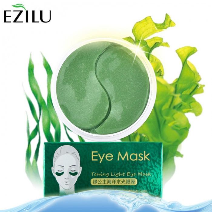 Маска под глаза с водорослями 60 шт Ezilu