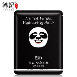Маска для лица Animal Panda с экстрактом водорослей и цветков розы Hankey