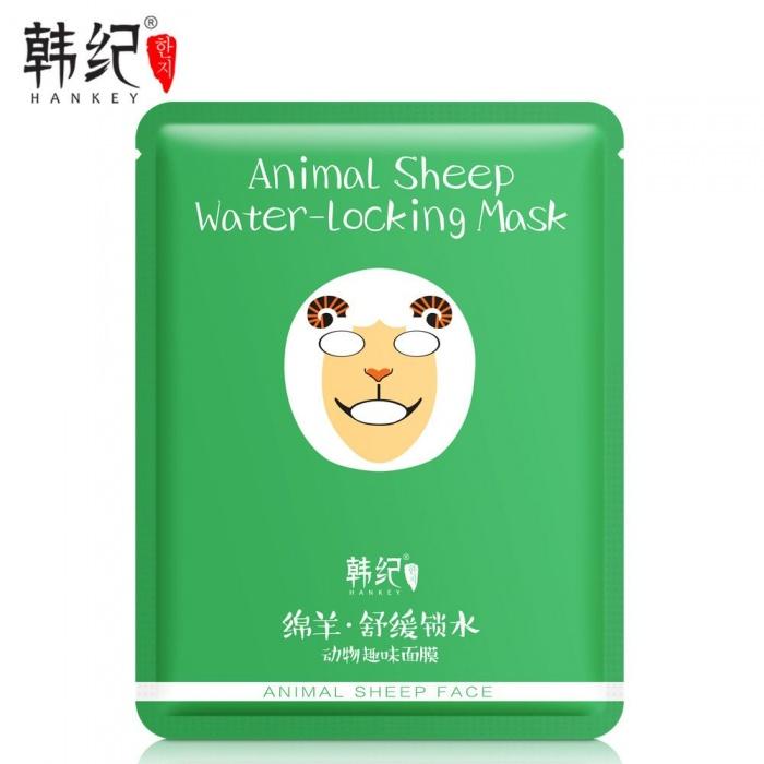 Hankey маска Animal Sheep Face с экстрактом водорослей мозуку и хризантемы