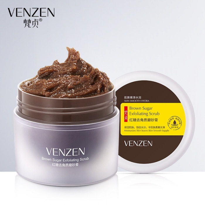 Venzen скраб для лица с коричневым сахаром