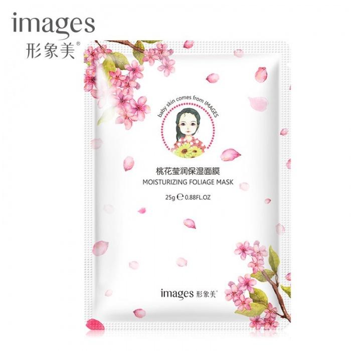 Images освежающая маска с экстрактом цветков персика