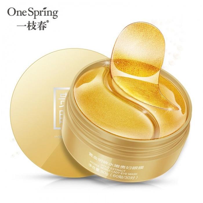 One Spring гидрогелевые патчи золотые 60 шт
