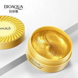 Маска под глаза (патчи) золотые Bioaqua