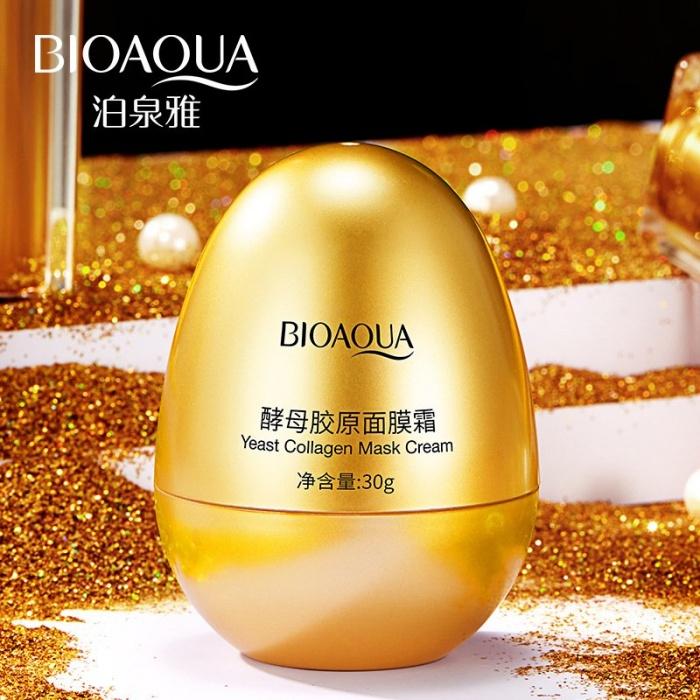 Bioaqua крем-маска с дрожжами и яичной скорлупой Bioaqua