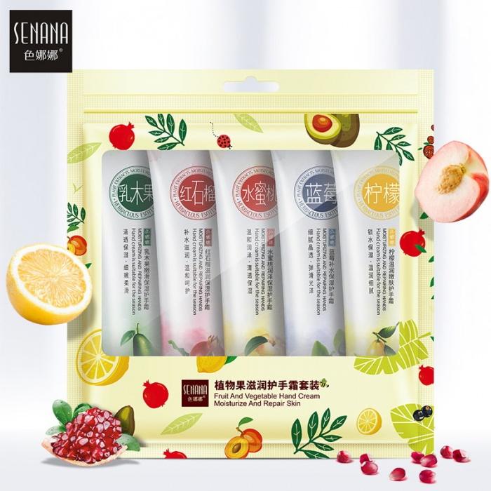 Senana набор фруктовых кремов для рук 5 шт