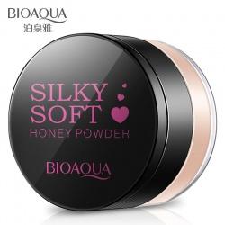 Пудра рассыпчатая Silky Soft Honey Bioaqua (01 натуральный)