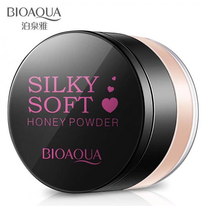Пудра рассыпчатая Silky Soft Honey Bioaqua (02 слоновая кость)