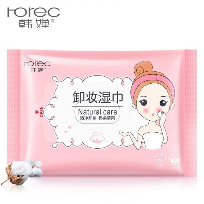 Салфетки влажные для снятия макияжа 25 шт Rorec