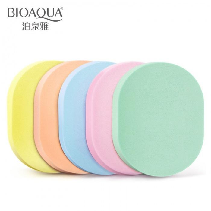 Спонжи для умывания овальные 5шт Bioaqua