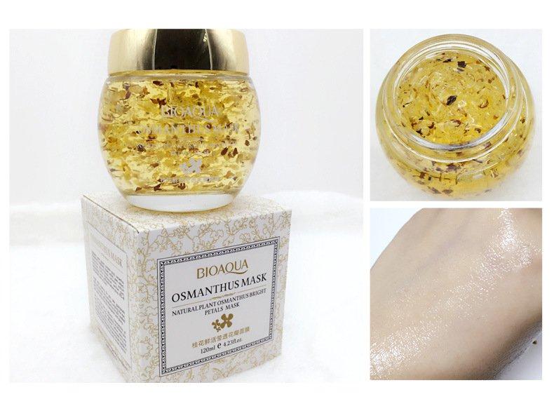 Маска для лица с лепестками золотого османтуса Bioaqua