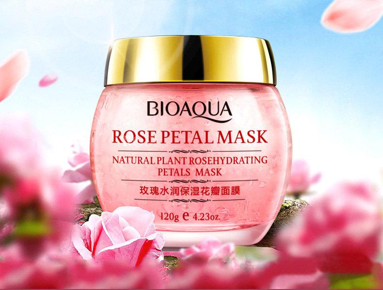 Маска ночная с лепестками розы Bioaqua