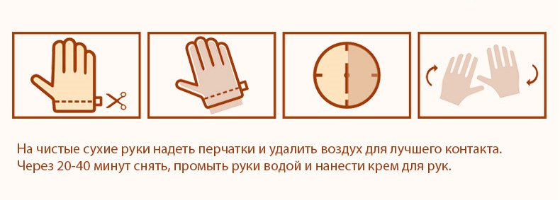 Перчатки увлажняющие с медом Bioaqua 35 грамм (1 пара)