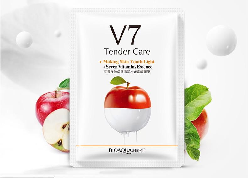 Маска для лица яблоко с витаминами V7 Bioaqua BQY9248: teomart.ru - фото 2