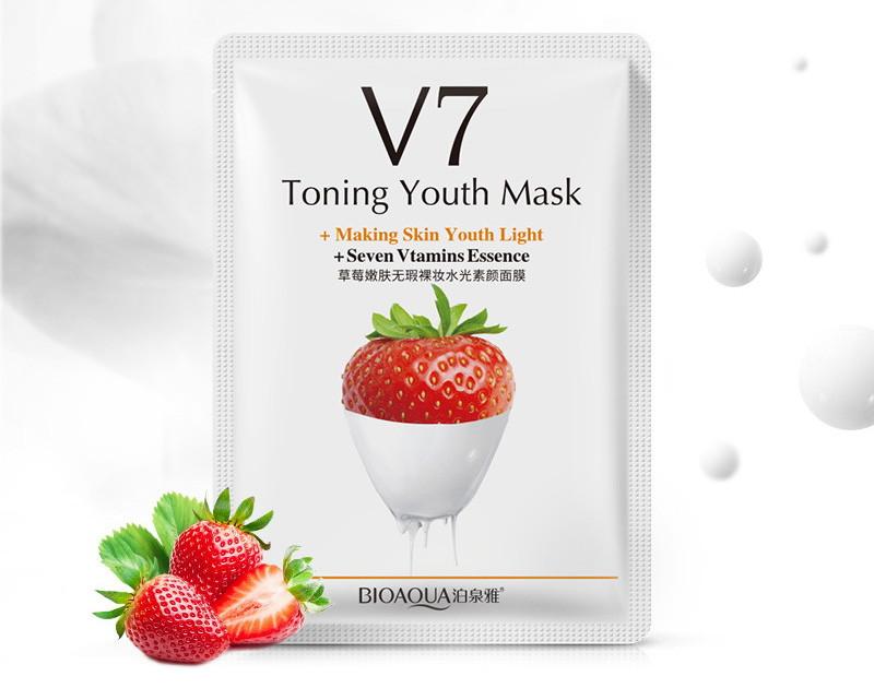 Маска для лица клубника с витаминами V7 Bioaqua BQY9279: teomart.ru - фото 2