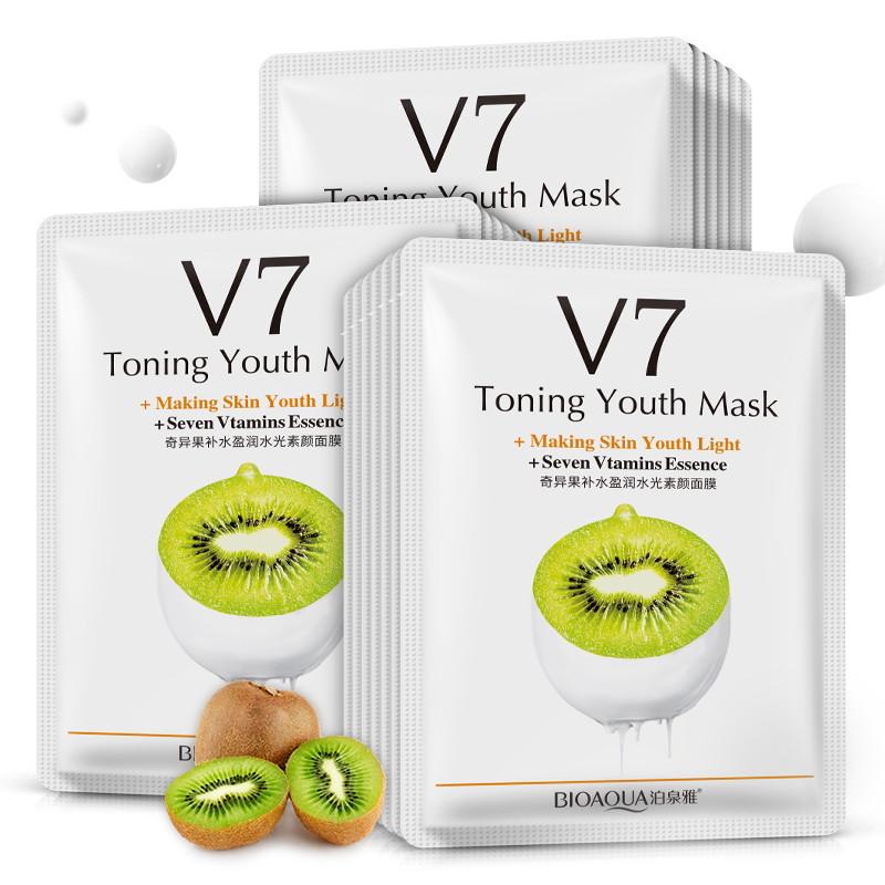 Маска для лица киви с витаминами V7 Bioaqua: teomart.ru - фото 2