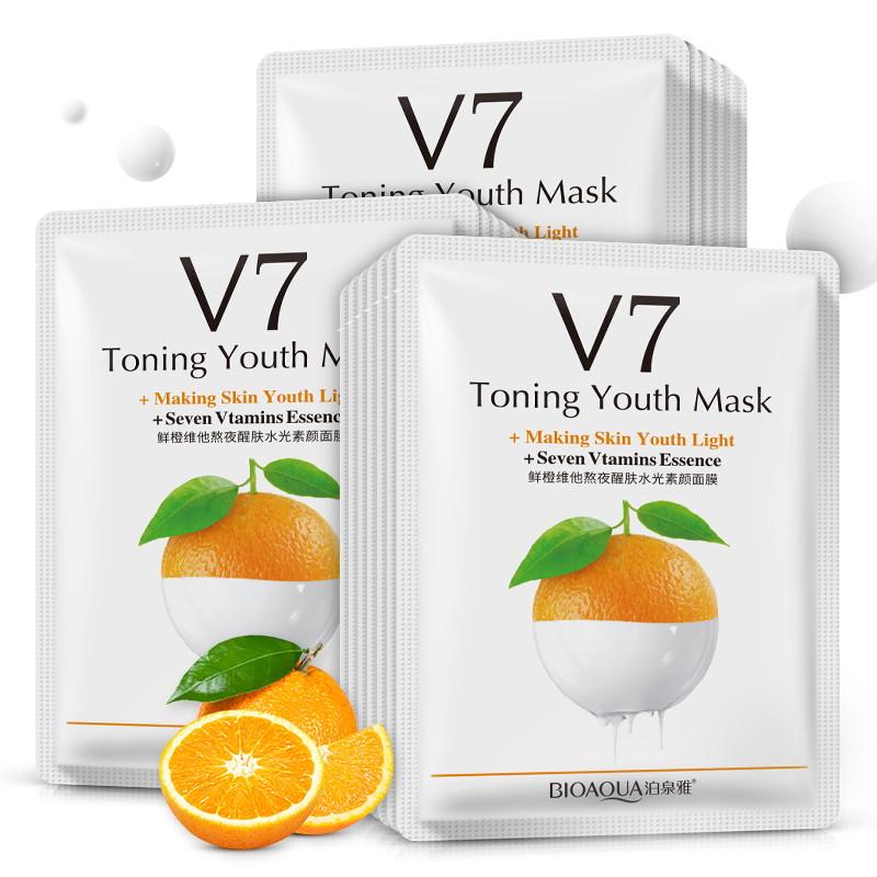 Маска для лица апельсин с витаминами V7 Bioaqua BQY9255: teomart.ru - фото 2
