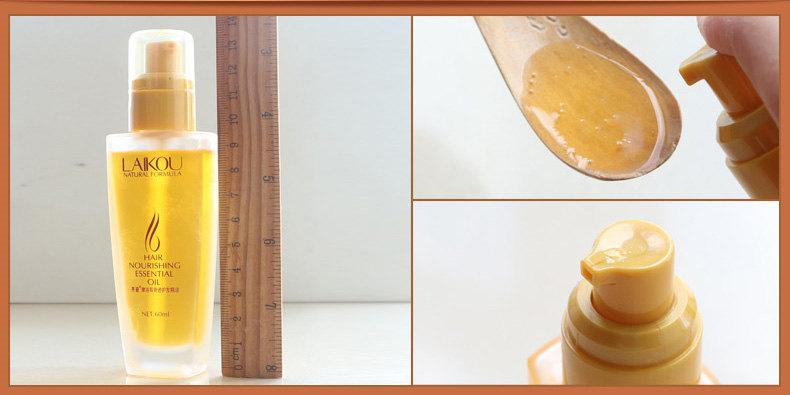 Масло аргановое для волос с дозатором Laikou
