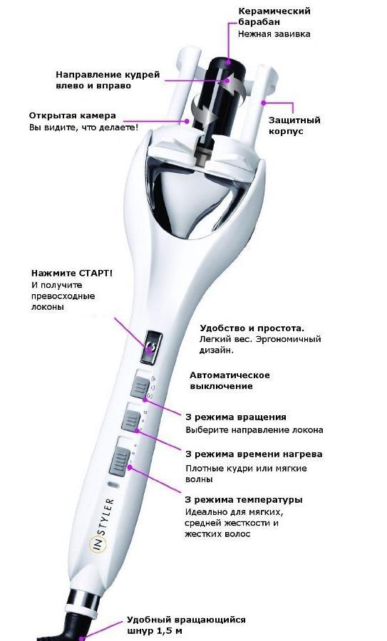 Instyler Auto Curler инструкция - фото 11